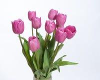 Rosa Blumenstrauß von Tulpen Stockbilder