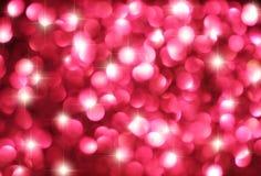 Rosa Bokeh stjärnabakgrund Royaltyfri Foto