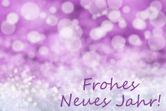 Rosa Bokeh-Weihnachtshintergrund, Schnee, neues Mitteljahr Frohes Neues Lizenzfreie Stockfotos