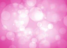 Rosa bokehbakgrund Arkivbilder