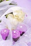 Rosa bröllopchoklad Arkivbilder