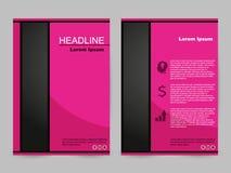 Rosa broschyrdesign vektor illustrationer