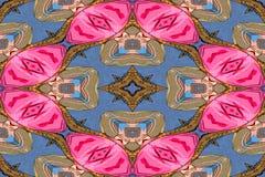 Rosa, bruna och blåa nyckfulla former för bakgrund vektor illustrationer