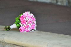 Rosa bukett Royaltyfria Foton