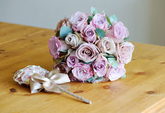 Rosa bukett för brudar Royaltyfria Bilder