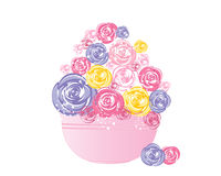 Rosa bunke Royaltyfri Foto