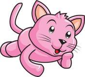 Rosa Cat Kitten Animal Fotografering för Bildbyråer
