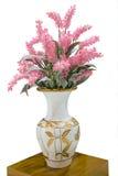 Rosa Chainese-Wollblume im Vase lokalisiert Lizenzfreie Stockbilder
