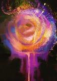 Rosa colorida abstracta Fotografía de archivo