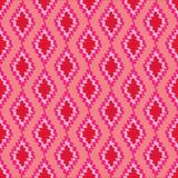 Rosa colorido y tessellation rojo de la geometría imagen de archivo