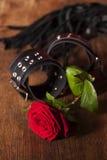 Rosa com brinquedos Fotos de Stock Royalty Free