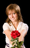 Rosa con amore Immagine Stock Libera da Diritti
