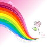 Rosa - concetto astratto della matita del Rainbow Fotografie Stock