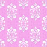 Rosa damast mönstrar Royaltyfria Bilder