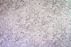 Rosa damast sömlös blom- modellbakgrund Arkivbilder