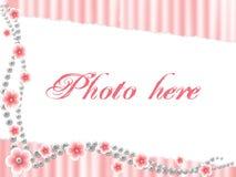 Rosa dargestellter Rand Stockbild