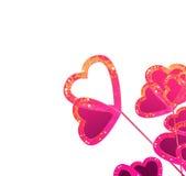 Rosa das flores dos corações Imagens de Stock Royalty Free