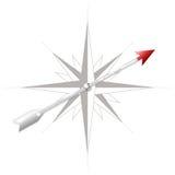 Rosa de compás con la flecha del metal Imagen de archivo libre de regalías