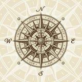 Rosa de compás náutica del vintage ilustración del vector