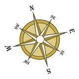 Rosa de compasso de Brown, inclinada Imagens de Stock Royalty Free