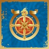 Rosa de compasso dourada Foto de Stock Royalty Free