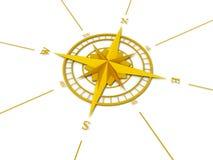 Rosa de compasso dourada Fotografia de Stock Royalty Free