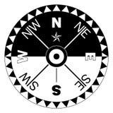 Rosa de compasso para a navegação marinha ou náutica e mapas em um fundo branco isolado como o vetor Fotos de Stock Royalty Free