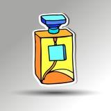 Rosa de cristal del tratamiento del icono de la belleza de la botella de perfume Imagen de archivo
