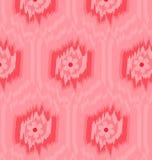 Rosa de Ikat do teste padrão Fotografia de Stock Royalty Free