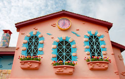 Rosa de la casa en diseño y del adornamiento para la idea Fotografía de archivo libre de regalías