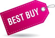 Rosa de la etiqueta de la etiqueta de Best Buy ilustración del vector