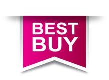 Rosa de la etiqueta de la etiqueta de Best Buy stock de ilustración