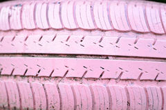 Rosa de la rueda del neumático Fotos de archivo libres de regalías