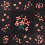 Rosa de las flores stock de ilustración