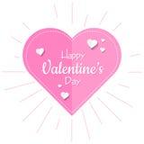 Rosa de las tarjetas del día de San Valentín Fotografía de archivo libre de regalías