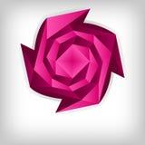 Rosa de Origami, fondo del tema del amor stock de ilustración
