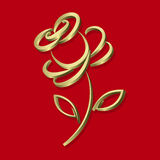 Rosa de oro Fotografía de archivo