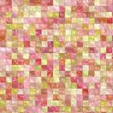 Rosa deckt Hintergrund mit Ziegeln Stockbild