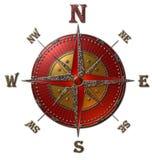 Rosa dei venti (oro & rosso) Immagine Stock Libera da Diritti
