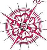Rosa dei venti rossa immagine stock libera da diritti