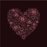 Rosa dekorativa härliga hjärtor Arkivfoton