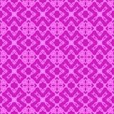 Rosa dekorative nahtlose Linie Muster Lizenzfreies Stockfoto