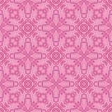 Rosa dekorative nahtlose Linie Muster Stockfotos