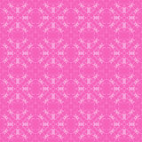 Rosa dekorative nahtlose Linie Muster Lizenzfreies Stockbild