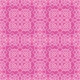 Rosa dekorative nahtlose Linie Muster Stockfotografie