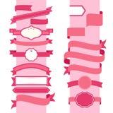 Rosa dekorative Schablone des Bandes Stockfotos