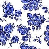 Rosa del blu del modello Immagine Stock