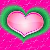 Rosa del corazón Stock de ilustración