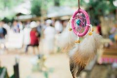 Rosa del dreamcatcher del collar Imagen de archivo