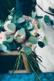 Rosa del rosa en ramo de la flor de las novias Imagen de archivo
